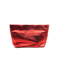 Austin Basics Deluxe Red Leather Clutch