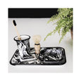 Bornn Enamelware Marbled Rectangle Tray - Black