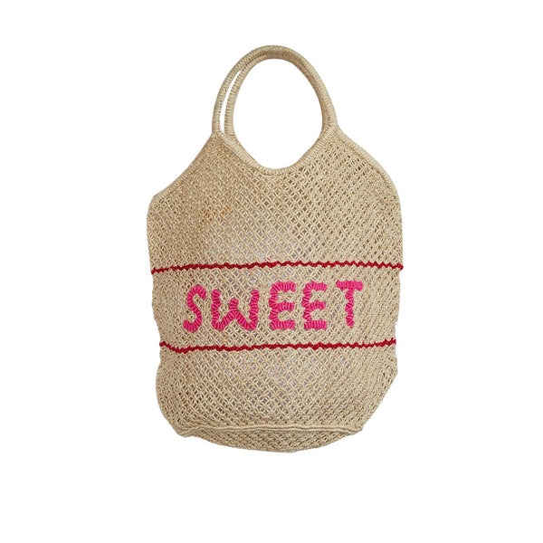 The Jacksons Large Woven Jute Bag - Sweet