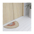 Langdon Small Crescent Woven Doormat - Peach & Silver