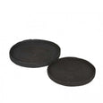 Lark Black Woven Seagrass Trays - Set of 2