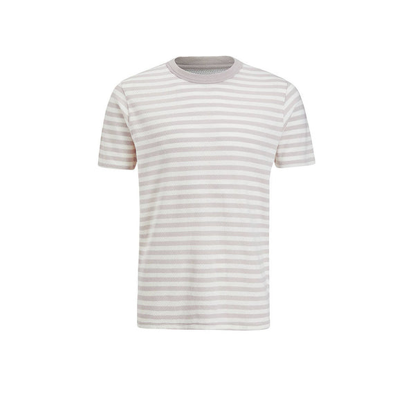 Les Basics Le Crew Tee Grey Stripes
