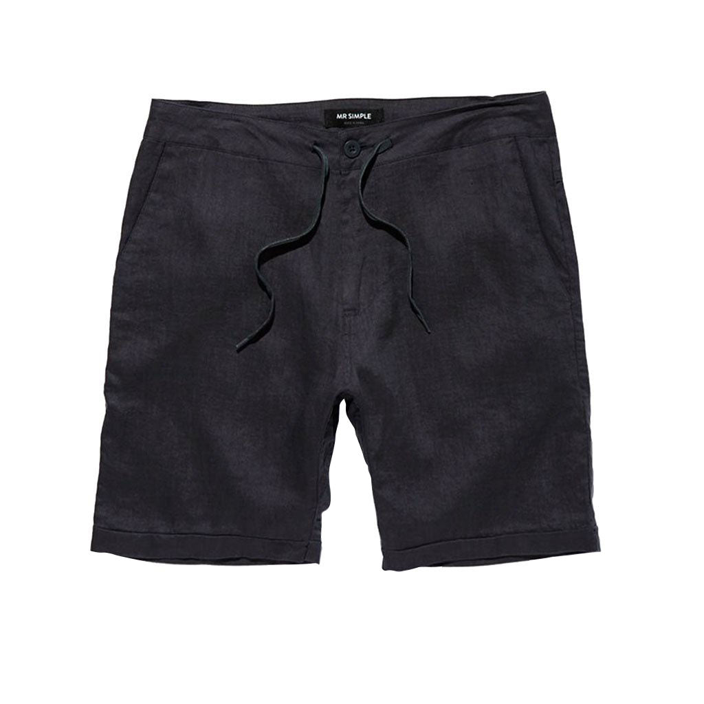 Mr Simple Tanner Short Black Linen