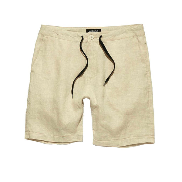 Mr Simple Tanner Short Natural Linen