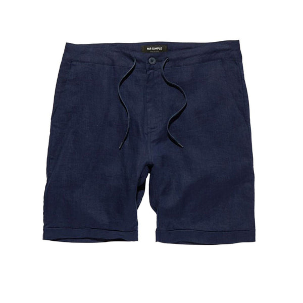 Mr Simple Tanner Short Navy Linen