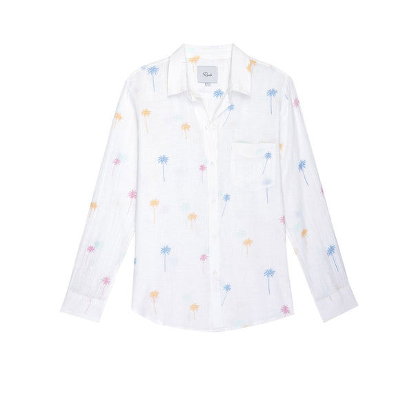 Rails Charli Neon Palm Linen Shirt
