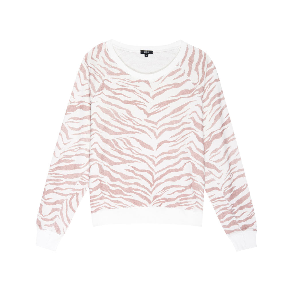 Rails Theo Blush Tiger Stripes Sweatshirt