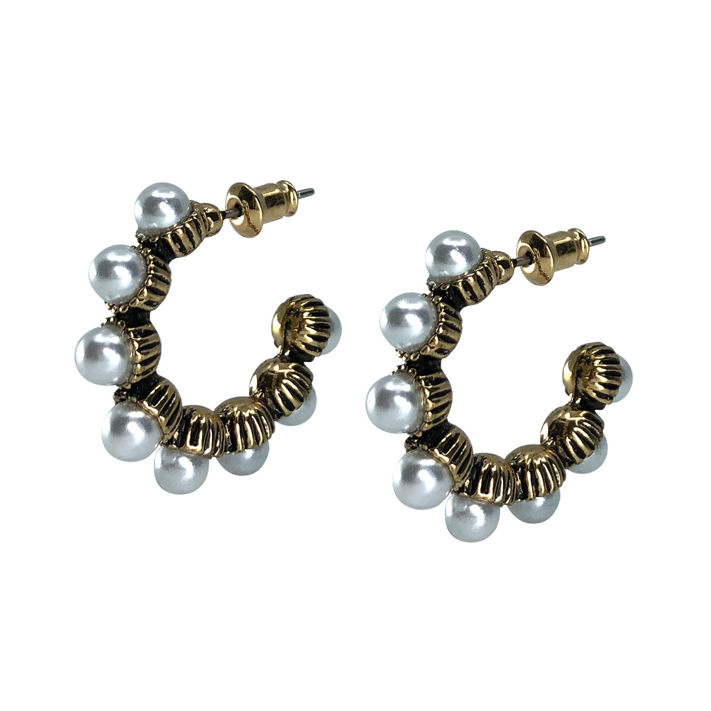 Saqui Studio Single Strand Pearl Hoops