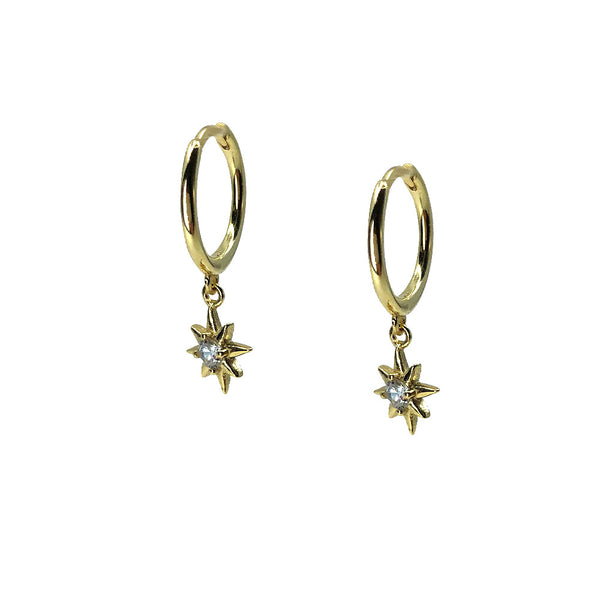 Saqui Studio Star Charm Sleeper Earrings