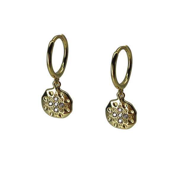 Saqui Studio Coin Charm Sleeper Earrings