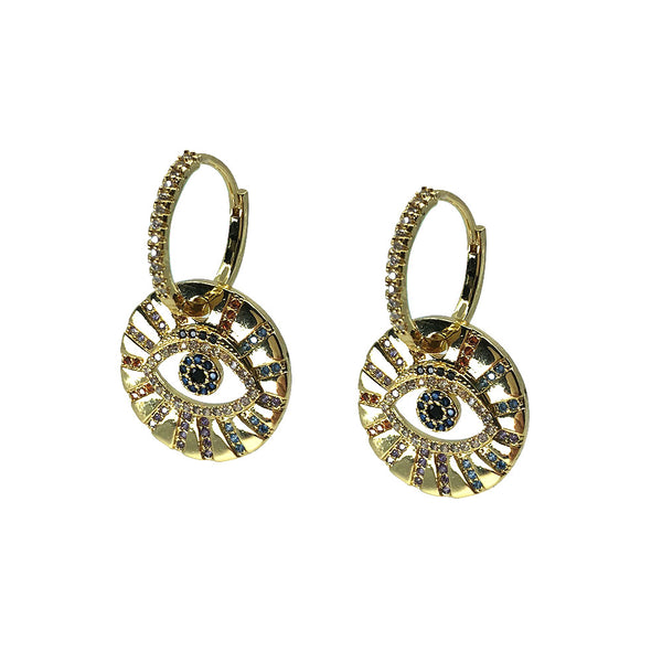 Saqui Studio Eye Charm Earrings