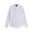 Scotch & Soda Collarless Stripe Shirt