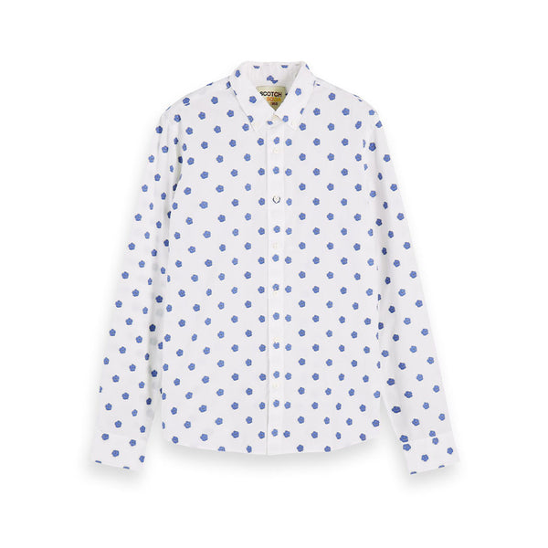Scotch & Soda Hibiscus Collar Shirt