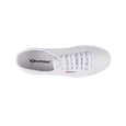 Superga 2750 EFGLU White Leather Tennis Shoes