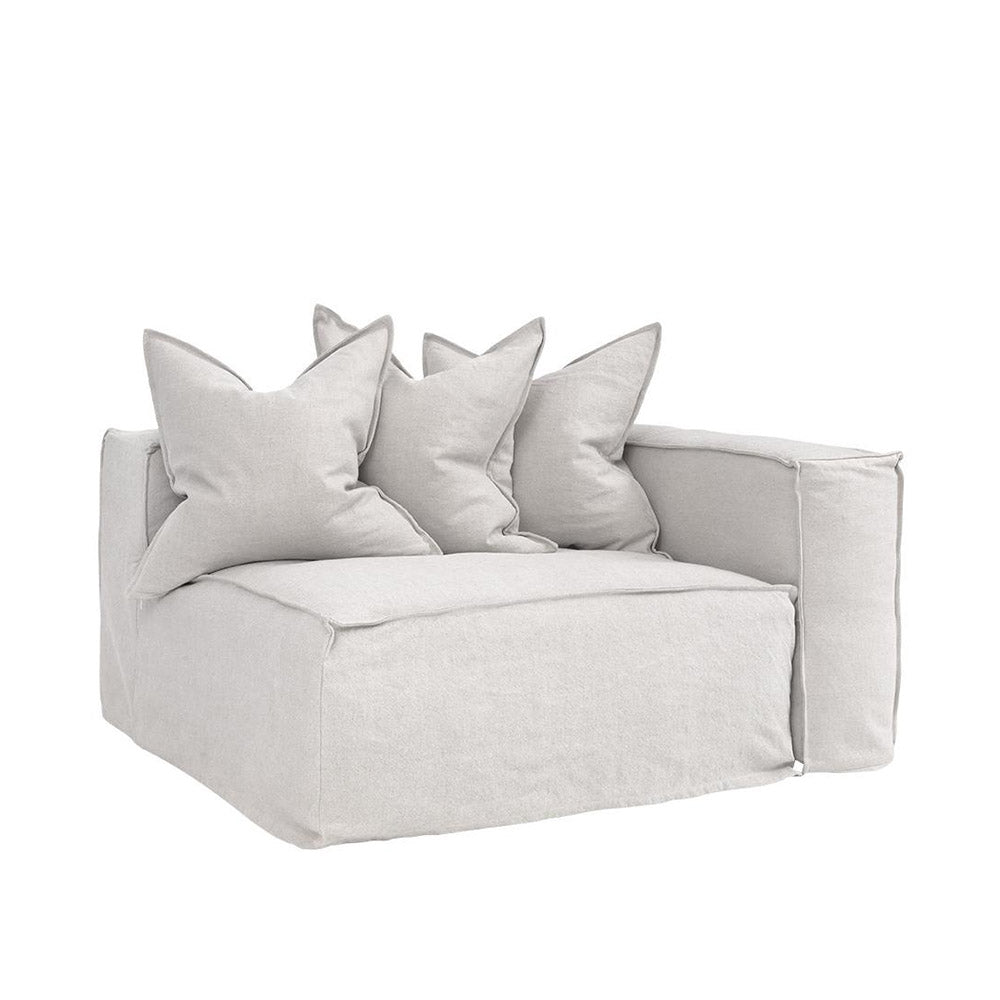 Hendrix One Seater Right Arm Sofa Sand | Uniqwa Furniture