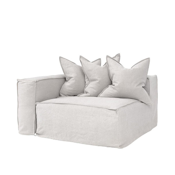 Hendrix One Seater Left Arm Sofa Sand | Uniqwa Furniture