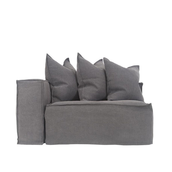 Hendrix One Seater Sofa Left Arm Charcoal | Uniqwa Furniture