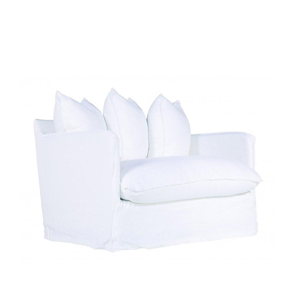 Singita One Seater Sofa White | Uniqwa Furniture