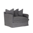 Singita One Seater Sofa Charcoal | Uniqwa Furniture