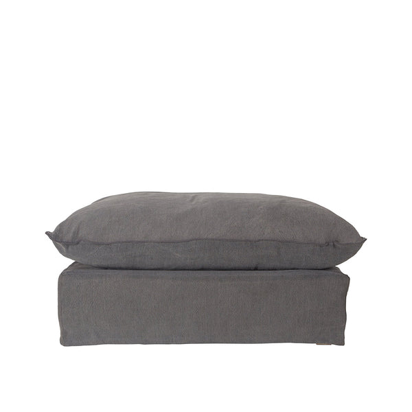 Singita Ottoman Charcoal | Uniqwa Furniture