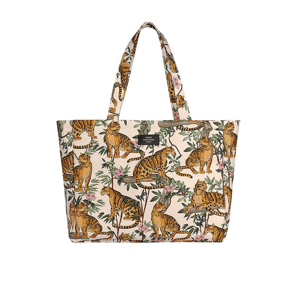Wouf Large Tote Bag - Lazy Jungle