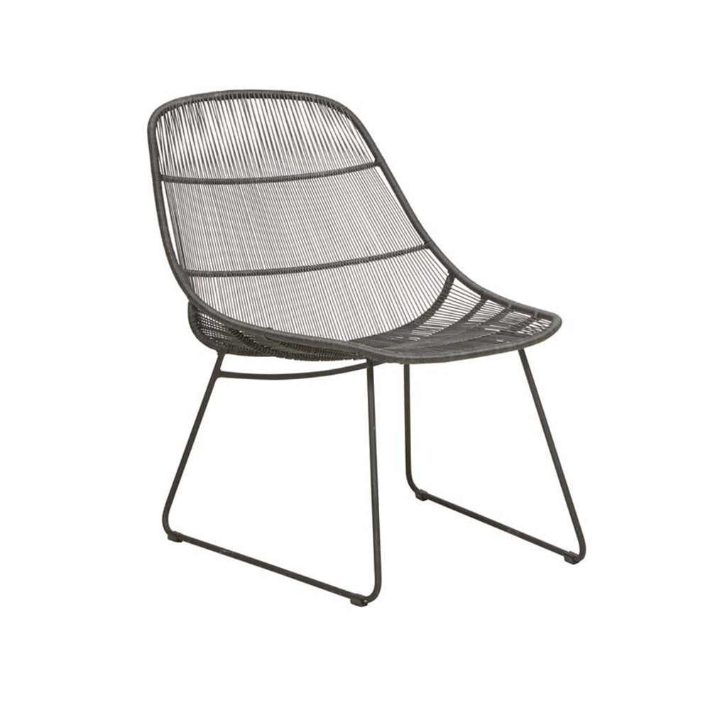 Outdoor Occasional Chair | Granada Scoop Occasional Licorice