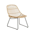 Occasional Outdoor Chair | Granada Scoop Occasional Natural & Licorice