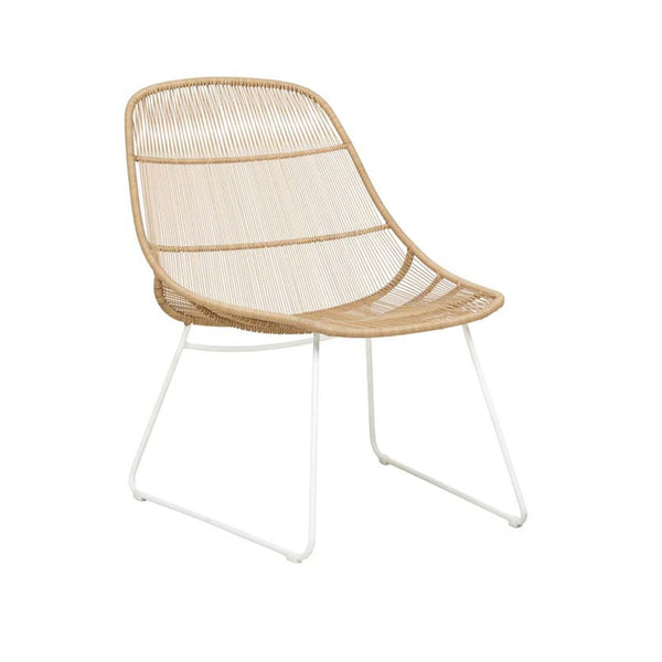 Occasional Outdoor Chair | Granada Scoop Occasional Natural & White