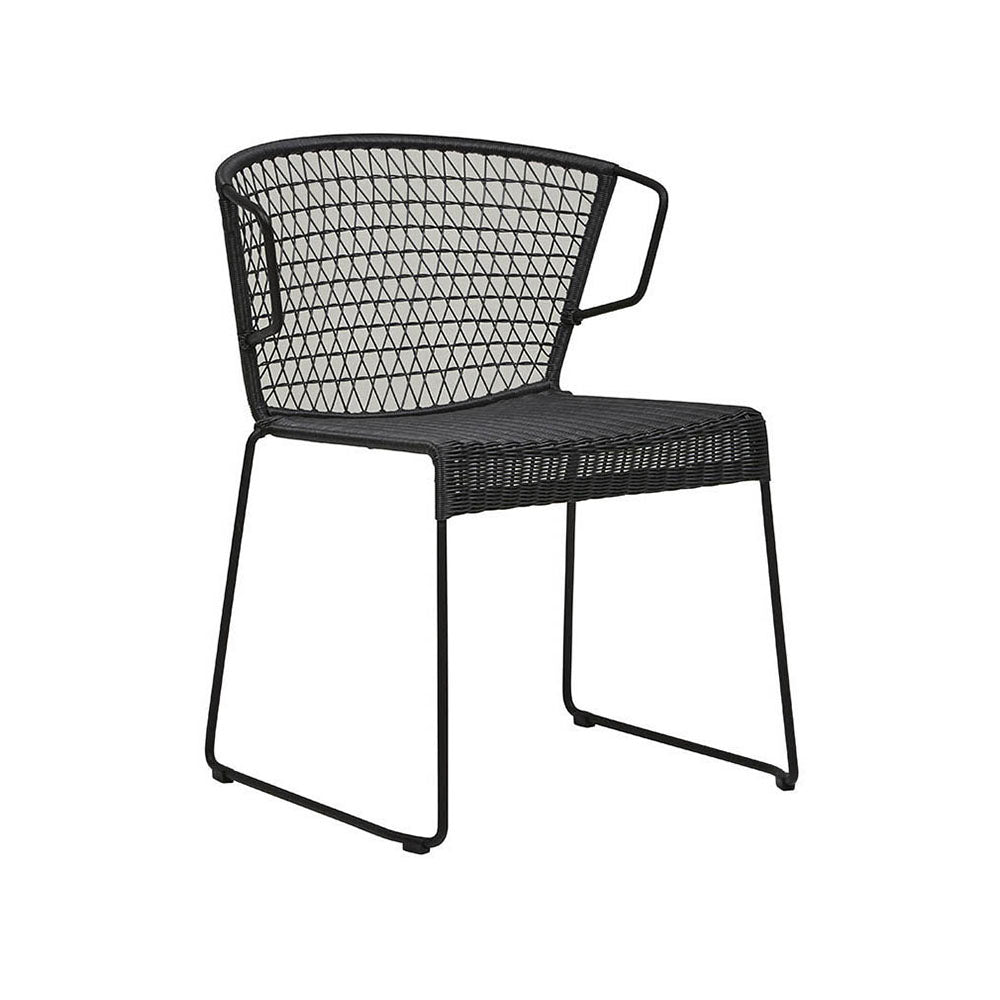 Outdoor Chair | Granada Rhodes Arm Chair Licorice