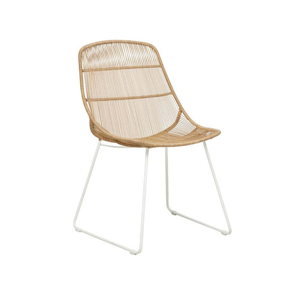 Outdoor Dining Chair | Granada Scoop Natural & White