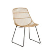 Outdoor Dining Chair | Granada Scoop Natural & Licorice