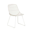 Outdoor Dining Chair | Granada Scoop White