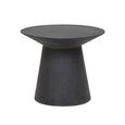 Livorno Outdoor Round Side Table Black Speckle