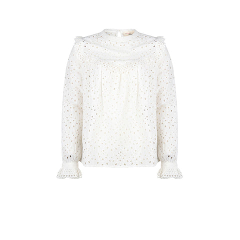 MSM Anna Broderie Anglaise White Blouse