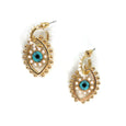 Saqui Studio Pearl Evil Eye Earrings