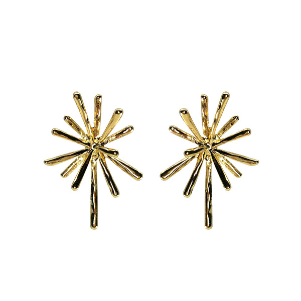 Saqui Studio Gold Starburst Earrings