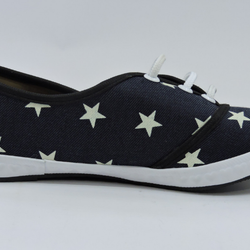 Dark Blue Star Printed Casual Shoe - Teen Girl