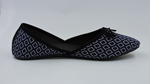 Block Printed Black Court Shoe - Teen Girl