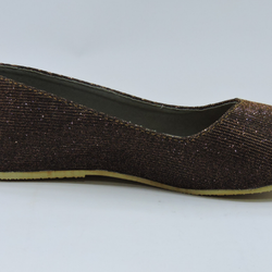 Flat Court Shoe - Brown