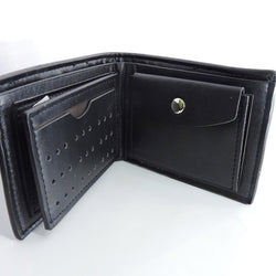 Men's Wallet with Coins pocket - Black