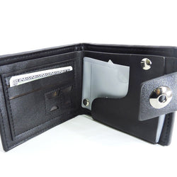 Bense Men's Wallet with Coins Pocket - Black & Brown
