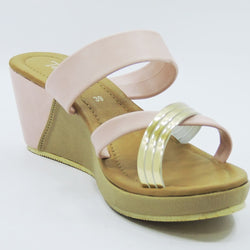 Pink Strap Wedges - Teen Girl
