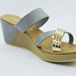 Silver Strap Wedges - Teen Girl