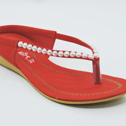 Women's Red Slip-On Sandal - Teen Girl