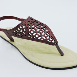 Women's Maroon Strap Sandal - Teen Girl