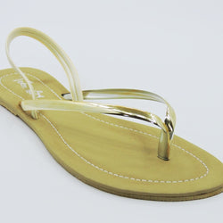 Women's Beige Slip-on Sandal - Teen Girl