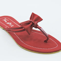 Women's Red Bow Flats - Teen Girl