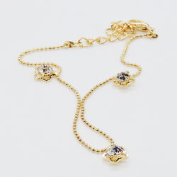 Diamond Embedded Anklet - Gold