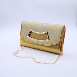 Women's Wedding Clutches- Gold & Grey