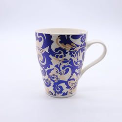 Tribal Floral Pattern Printed Mug- Radiant Blue